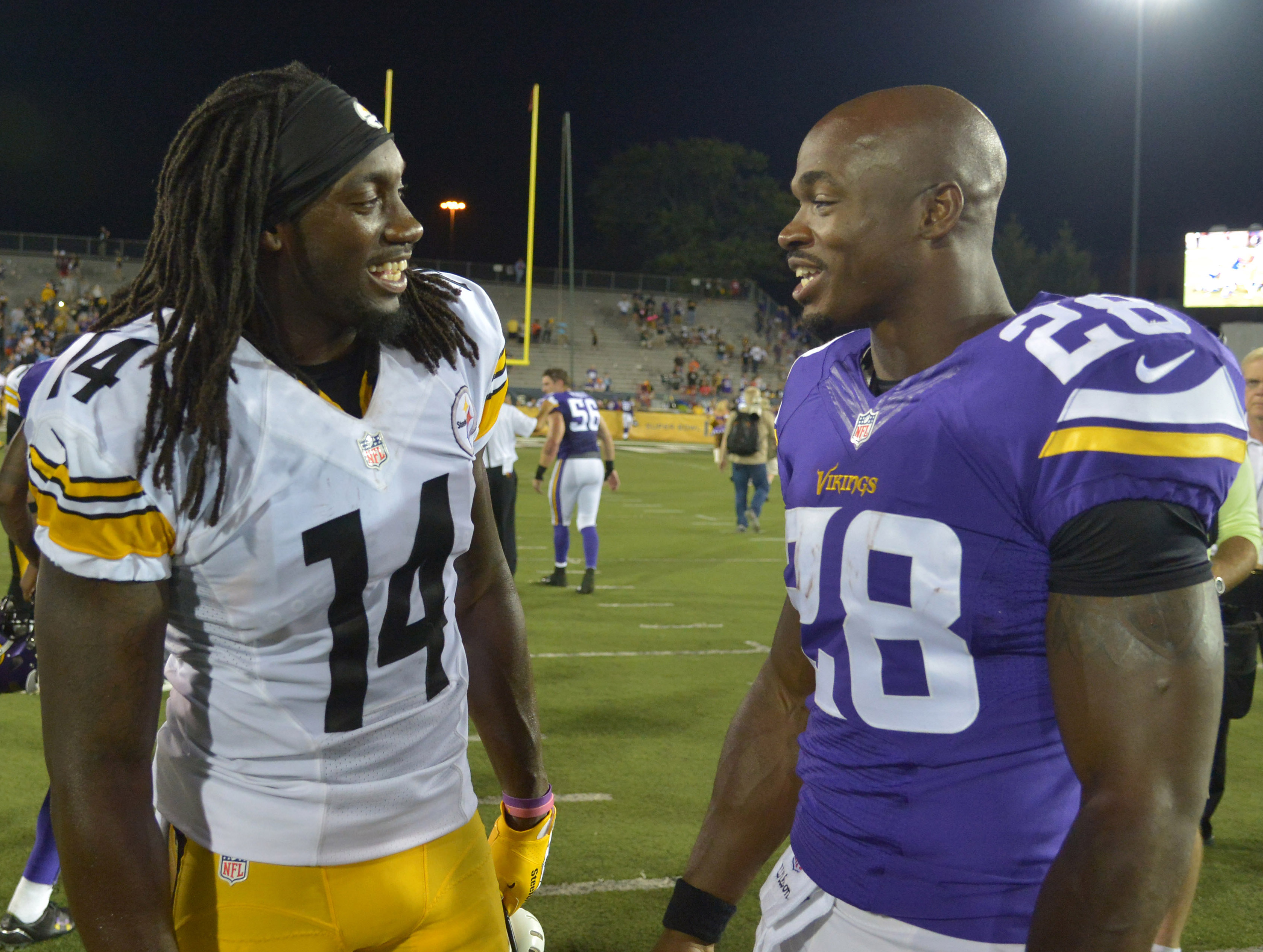 Peterson and Sammie Coates at HOF Game
